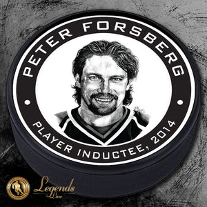 2014 Peter Forsberg - NHL Legends Textured Puck