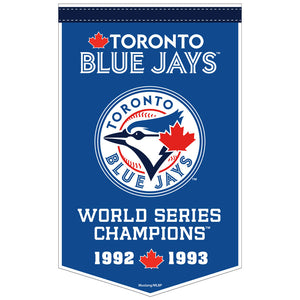 "Toronto Blue Jays™ 15"" x 24"" Sublimated Felt Dynasty Banner"