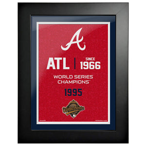 Atlanta Braves 12x16 World Series Empire Frame