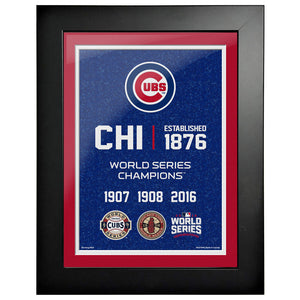 Chicago Cubs 12x16 World Series Empire Frame