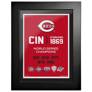 Cincinnati Reds 12x16 World Series Empire Frame