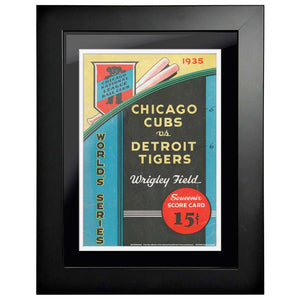 "12""x16""  Detroit Tigers., Chicago Cubs World Series Program Cover 1935"