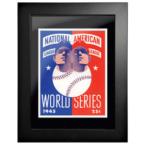 "12""x16""  Detroit T., Chicago Cubs World Series Program Cover 1945"