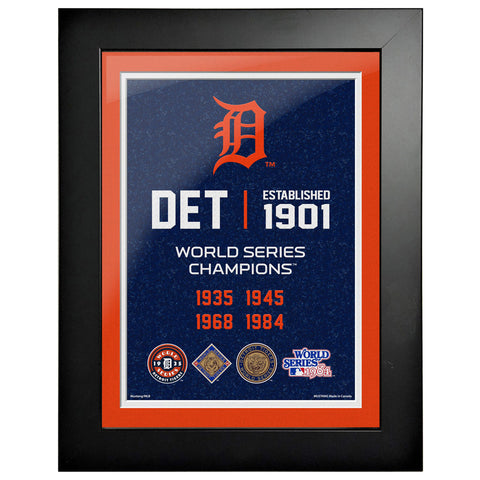 Detroit Tigers 12x16 World Series Empire Frame