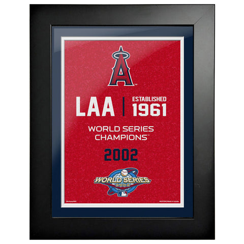 Los Angeles Angels 12x16 World Series Empire Frame