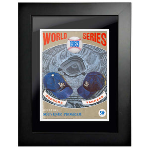 "12""x16""  Los Angeles Dodgers., New York Yankees World Series Program Cover 1963"