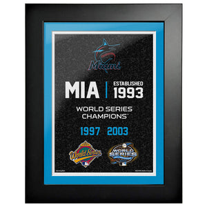Miami Marlins 12x16 World Series Empire Frame