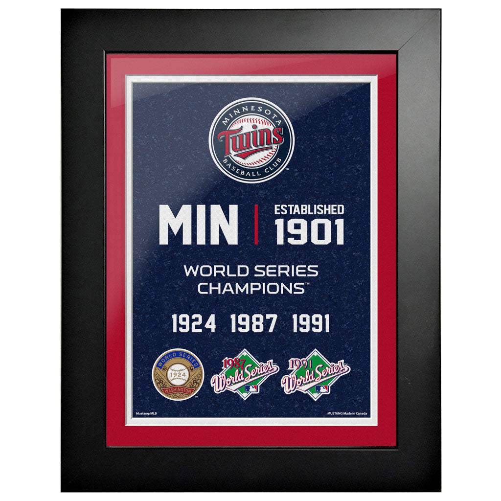 Minnesota Twins 12x16 World Series Empire Frame