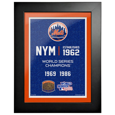 New York Mets 12x16 World Series Empire Frame