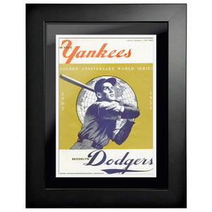 "12""x16""  New York Yankees, Los Angeles Dodgers World Series Program Cover 1953"