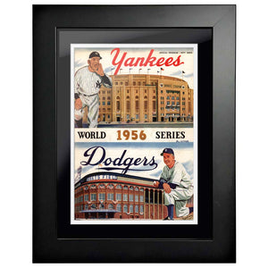 "12""x16""  New York Yankees, New York Giants World Series Program Cover 1956"