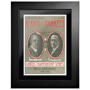 "12""x16""  New York Yankees, New York Giants World Series Program Cover 1922"