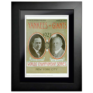 "12""x16""  New York Yankees, New York Giants World Series Program Cover 1923"