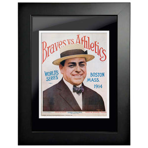 "12""x16""  Oakland Athletics, Atlanta Braves World Series Program Cover 1914"