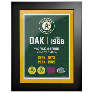 Oakland Athletics 12x16 World Series Empire Frame
