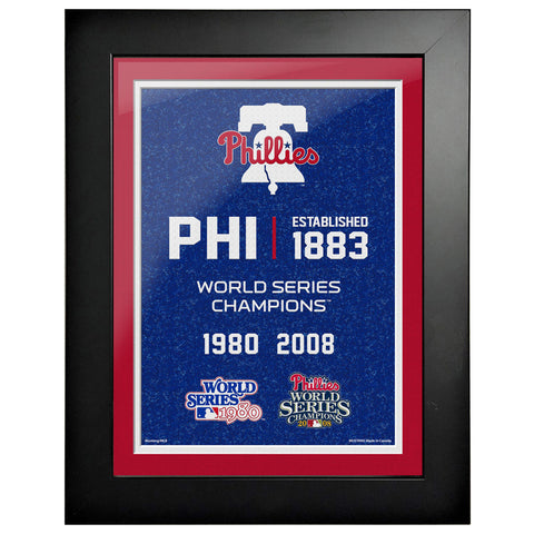 Philadelphia Phillies 12x16 World Series Empire Frame