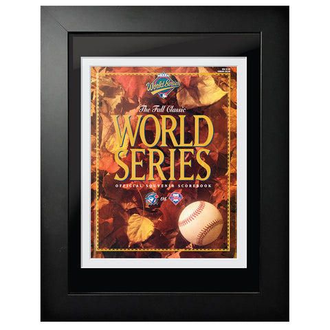 Toronto Blue Jays vs. Philadelphia Phillies World Series Program Cover 1993