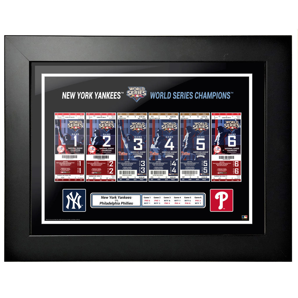 New York Yankees 18x24 2009 World Series Tickets to History