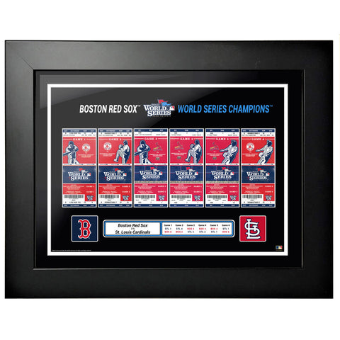 Boston Red Sox 18x24 2013 World Series Tickets to History