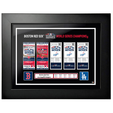 Boston Red Sox 18x24 2018 World Series Tickets to History