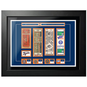 "18""x24"" Framed Detroit Tigers World Series Ticket To History"