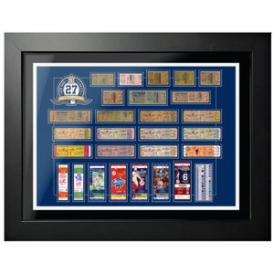"18""x24"" Framed New York Yankees World Series Ticket To History"