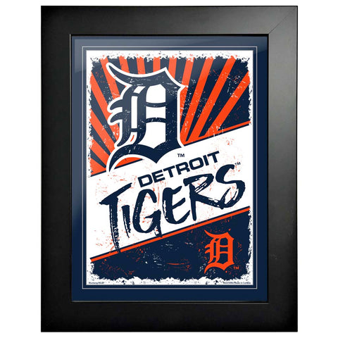 Detroit Tigers 12x16 Classic Framed Artwork