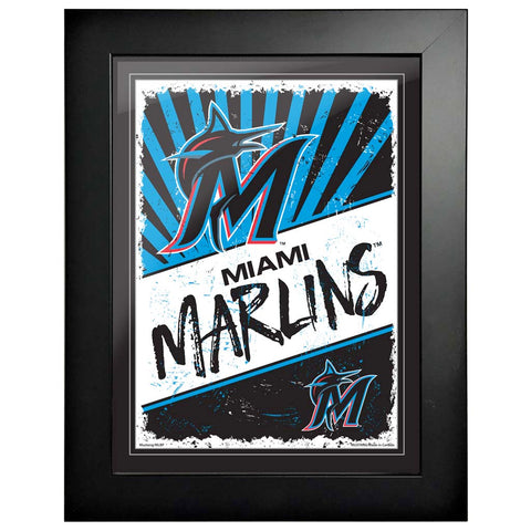Miami Marlins 12x16 Classic Framed Artwork