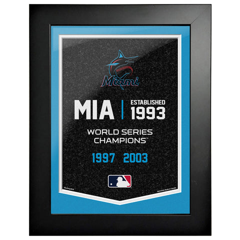 Miami Marlins - 12x16 Framed Artwork- Empire
