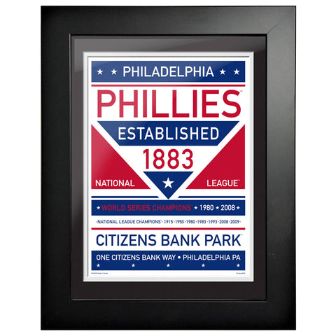 Philadelphia Phillies 12x16 Dual Tone Framed Artwork