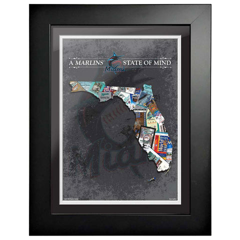 Miami Marlins 12x16 State of Mind Framed Artwork