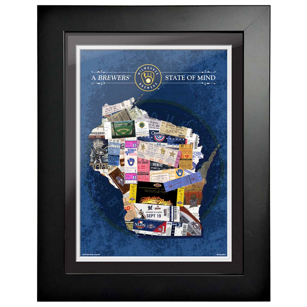 Milwaukee Brewers 12x16 State of Mind Framed Artwork