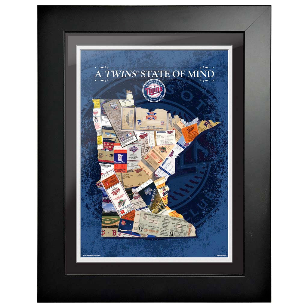 Minnesota Twins 12x16 State of Mind Framed Artwork
