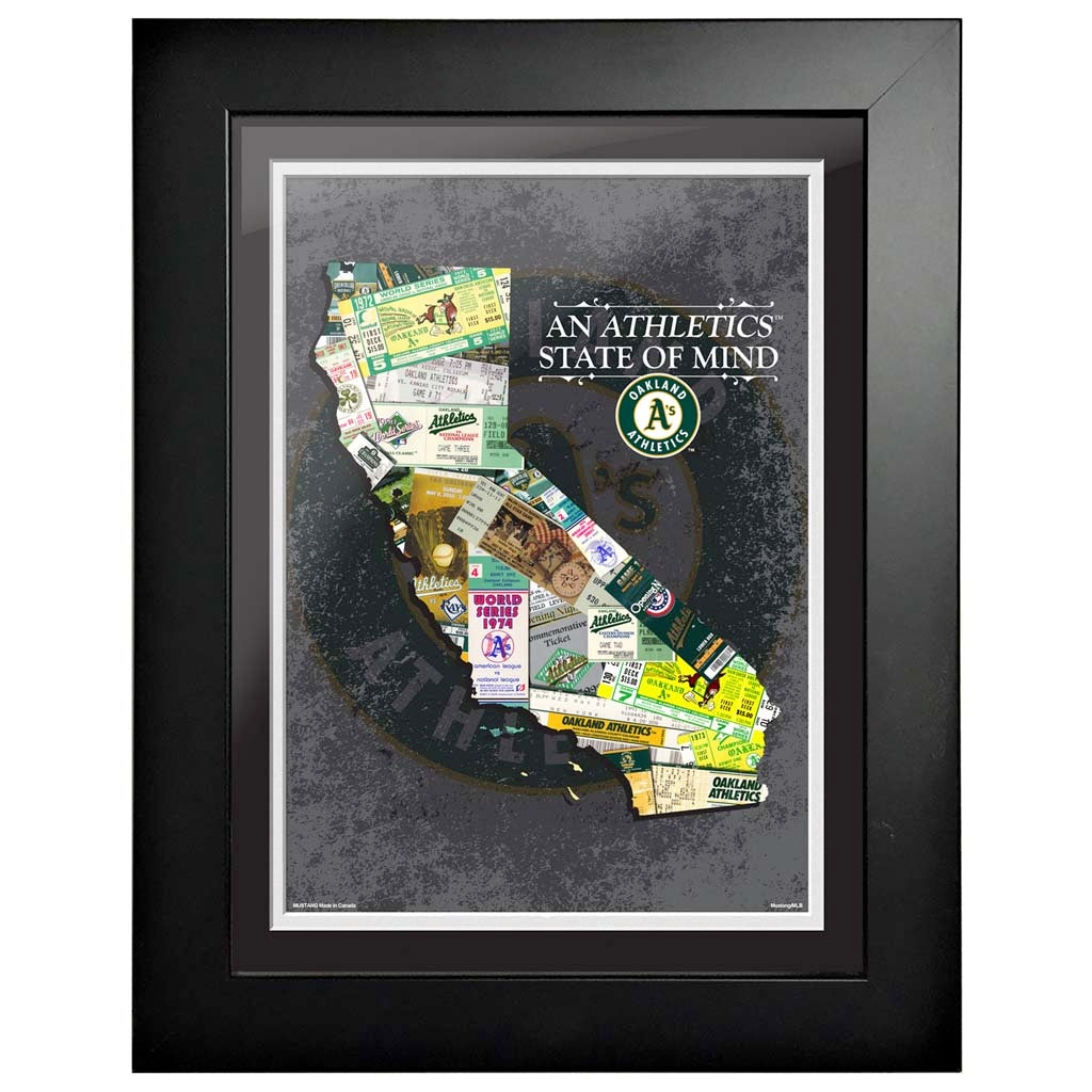 Oakland Athletics 12x16 State of Mind Framed Artwork
