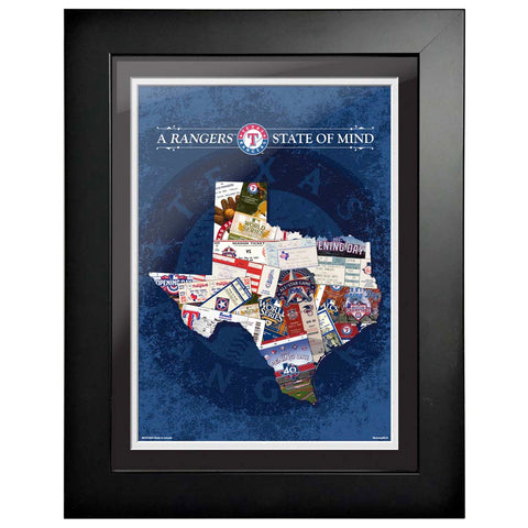 Texas Rangers 12x16 State of Mind Framed Artwork
