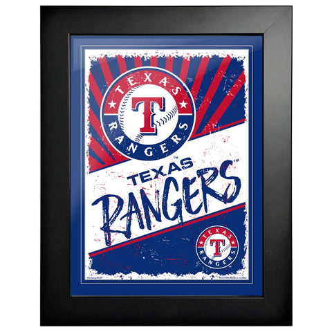 Texas Rangers 12x16 Classic Framed Artwork