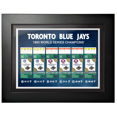 Toronto Blue Jays Ticket to History 12x16 Frame 1993