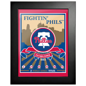 Philadelphia Phillies 12x16 Wins Collection Framed Artwork