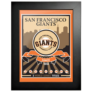 San Francisco Giants 12x16 Wins Collection Framed Artwork