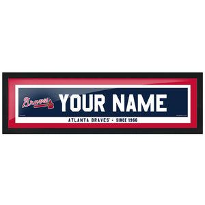 Atlanta Braves 6x22 Personalized Framed Artwork