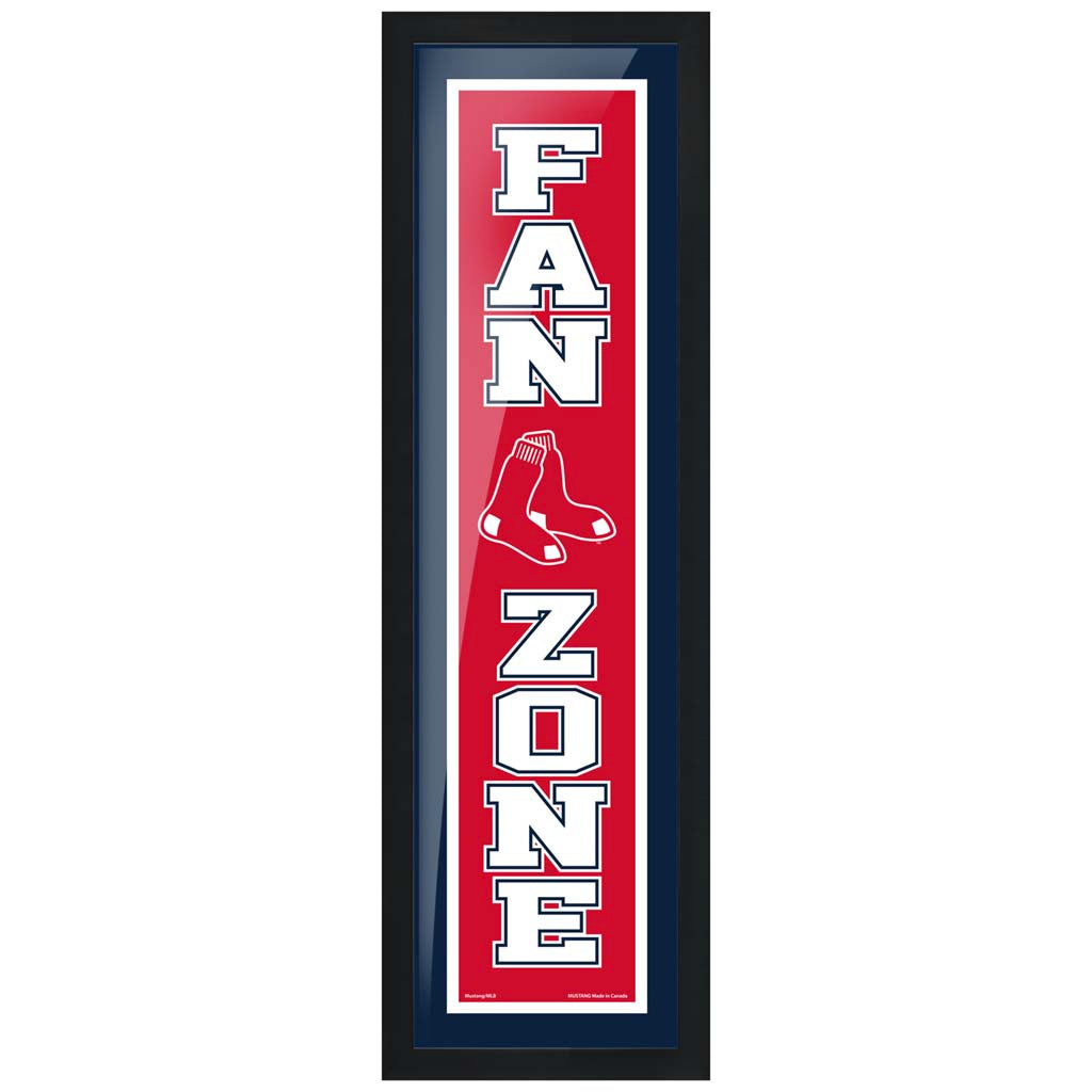 Boston Red Sox 6x22 Fan Zone Framed Artwork