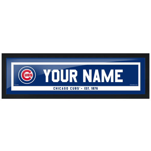 Chicago Cubs 6x22 Personalized Framed Artwork