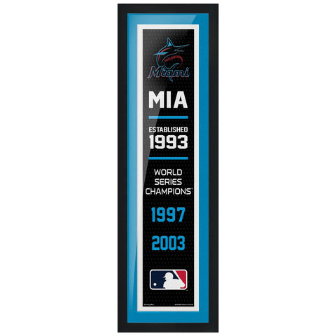 Miami Marlins - 6X22 Framed Artwork- Empire