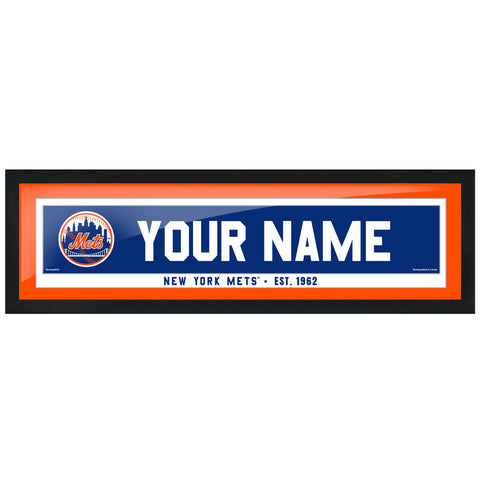 New York Mets 6x22 Personalized Framed Artwork