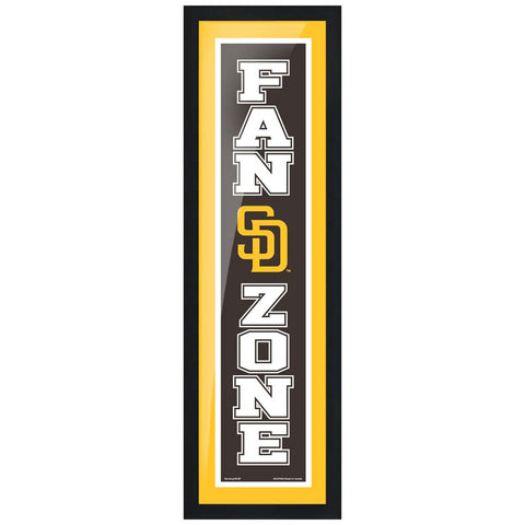 San Diego Padres 6x22 Fan Zone Framed Artwork