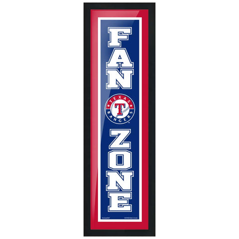 Texas Rangers 6x22 Fan Zone Framed Artwork