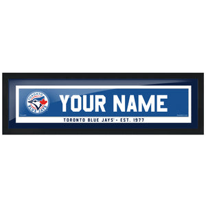 Toronto Blue Jays 6x22 Personalized Framed Artwork