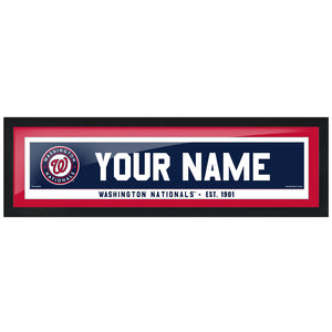 Washington Nationals 6x22 Personalized Framed Artwork