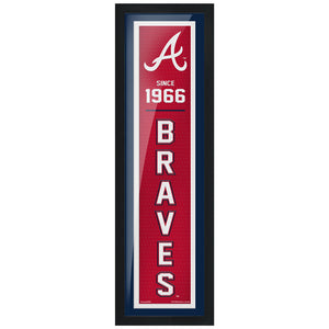 Atlanta Braves 6x22 Established Framed Artwork