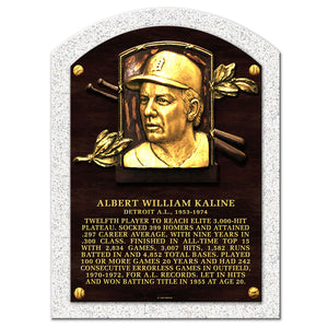 "Al Kaline Legend 10""x14"" Cooperstown Plaque Detroit Tigers"